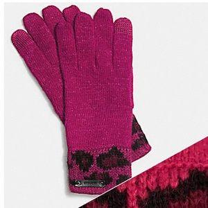 Coach ocelot touch gloves